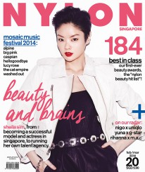 <b><p>She&#8217;s not just any other pretty face &#8211; Singaporean model, actress and SK-II ambassador, Sheila Sim&#8217;s on our cover for, what else, the beauty issue! Sure, she&#8217;ll never admit to her gorgeousness, but our magazine spread proves otherwise; we also chat with the girl-next-door about opening up her own modelling agency. And then, in our first-ever &#8220;NYLON beauty hit list&#8221;, we round up some of the best tried-and-tested items in the market that both the team, industry experts, and even you guys, are raving about.  Other than G-Star&#8217;s collab with Yuna, and Rihanna&#8217;s new collection for M.A.C., our radar section&#8217;s packed with interviews with Big Pink, Alpine and Lucy Rose, who&#8217;re coming down for the Mosaic Music Festival, while we also catch up with a homegrown veteran of our own, The Analog Girl.</p>