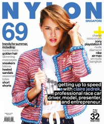<b><p>Our Summer issue turns up the heat with racecar-driving beauty Claire Jedrek on the cover, who brings us up to speed with her fast-paced life as tv presenter, writer, and fitness personality, among others. We also look at summer trends including must-have sunscreens, sneakers, and heeled sandals, plus obsess over the Chanel Coco Crush collection and the Sony Playstation 4.</p>