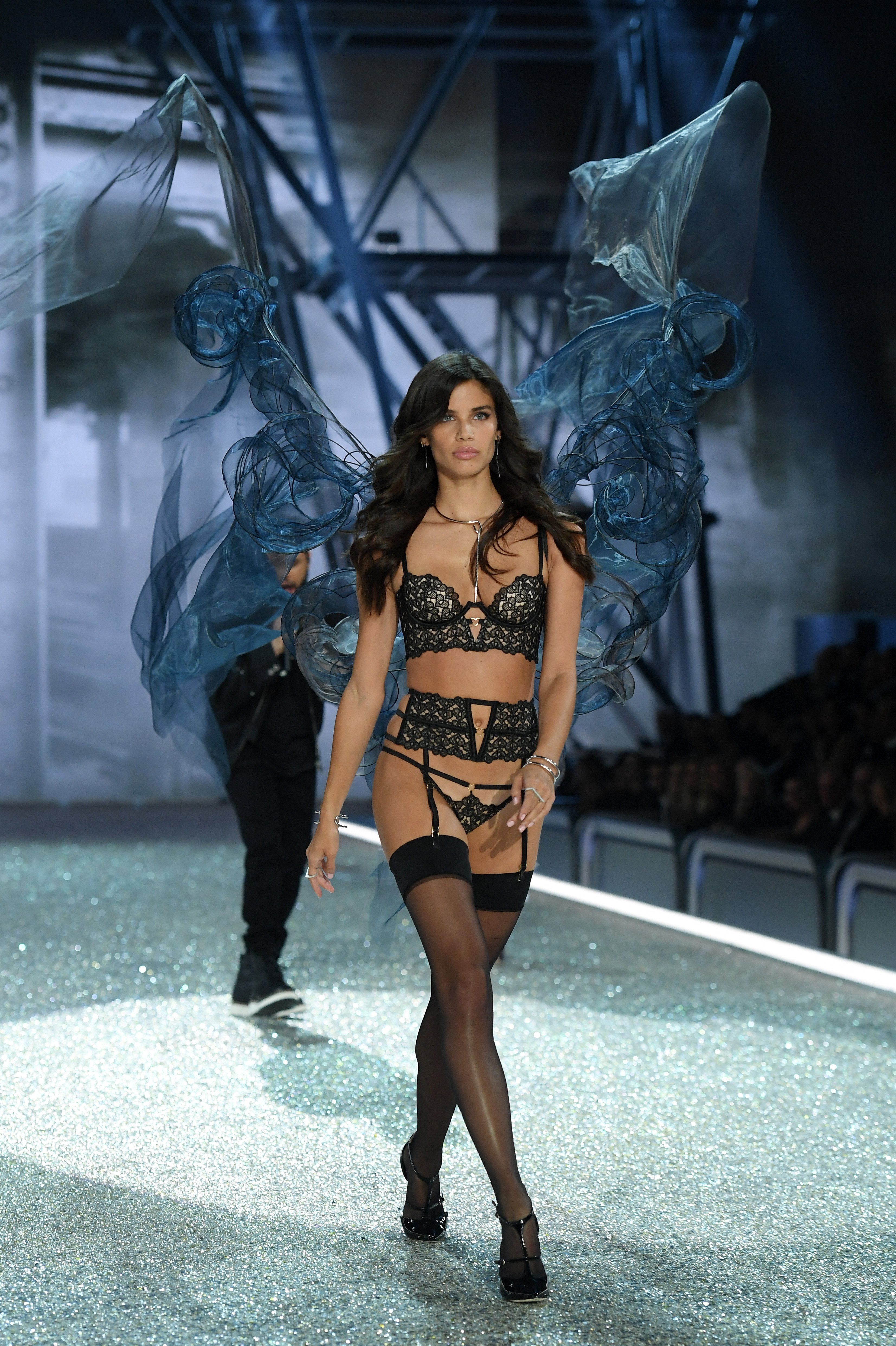PARIS, FRANCE - NOVEMBER 30: Sara Sampaio walks the runway during the 2016 Victoria's Secret Fashion Show on November 30, 2016 in Paris, France. (Photo by Dimitrios Kambouris/Getty Images for Victoria's Secret)