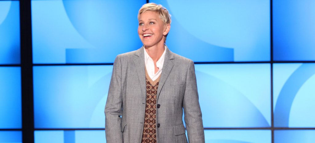"In this photo released by Warner Bros, talk show host Ellen DeGeneres addresses her recent visit by the paramedics during a taping of ""The Ellen DeGeneres Show"" on Monday, September 26th in Burbank, CA.This episode will air on Tuesday, September 27th.Photo Credit: Michael Rozman/Warner Bros,"