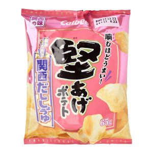 Calbee Kataage Dashi and Soysauce Flavour Cracker Front