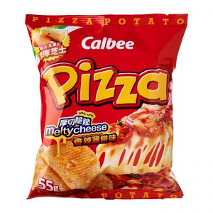 Calbee Spicy Pizza Potato Chips Front