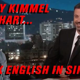 We speak English in Singapore!!!