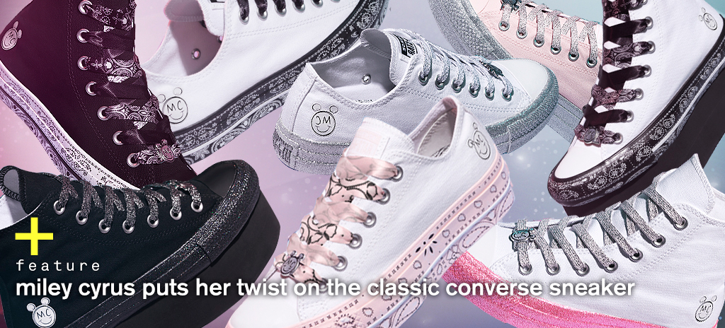 86660378e6c7a4 Miley Cyrus Puts Her Twist On The Classic Converse Sneaker - NYLON SINGAPORE