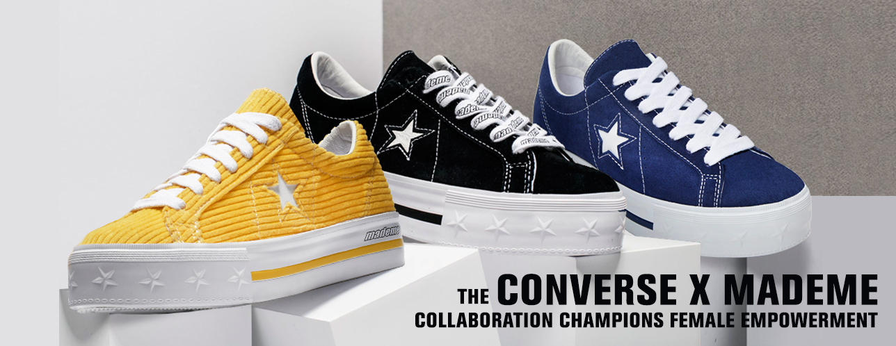 The New Converse One Star And MadeMe Collab Is All About Girl Power ... a4ca7063759