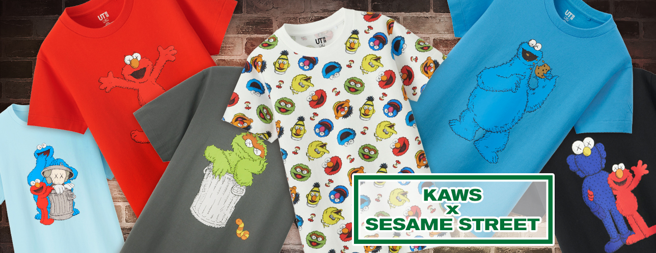 7fa15689 Here's Every Look From The Uniqlo KAWS x Sesame Street Collection!