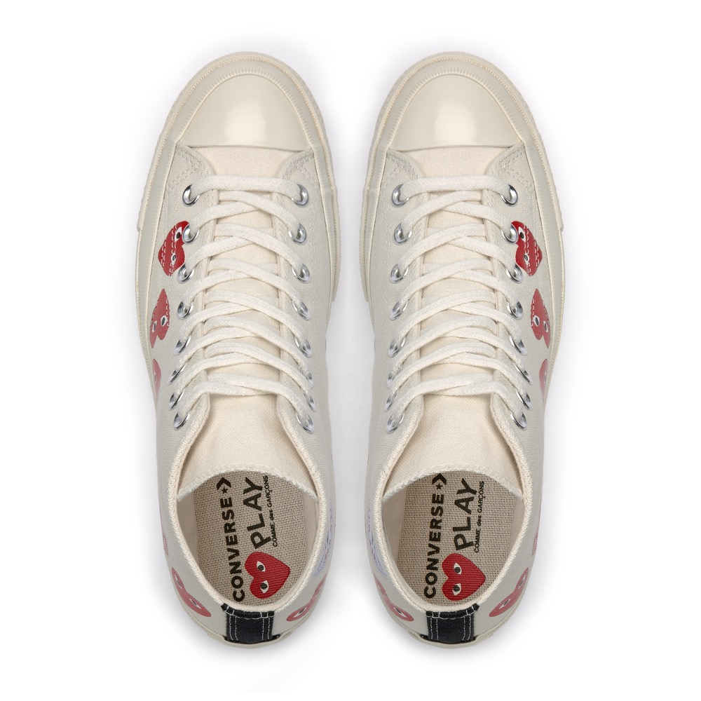 9382532d91564a PLAY Comme des Garcons Converse Multi Heart Chuck Taylor All Star  70    Launch  Friday 19 October (in-store   E-SHOP)   Price  SGD220 (High Top)