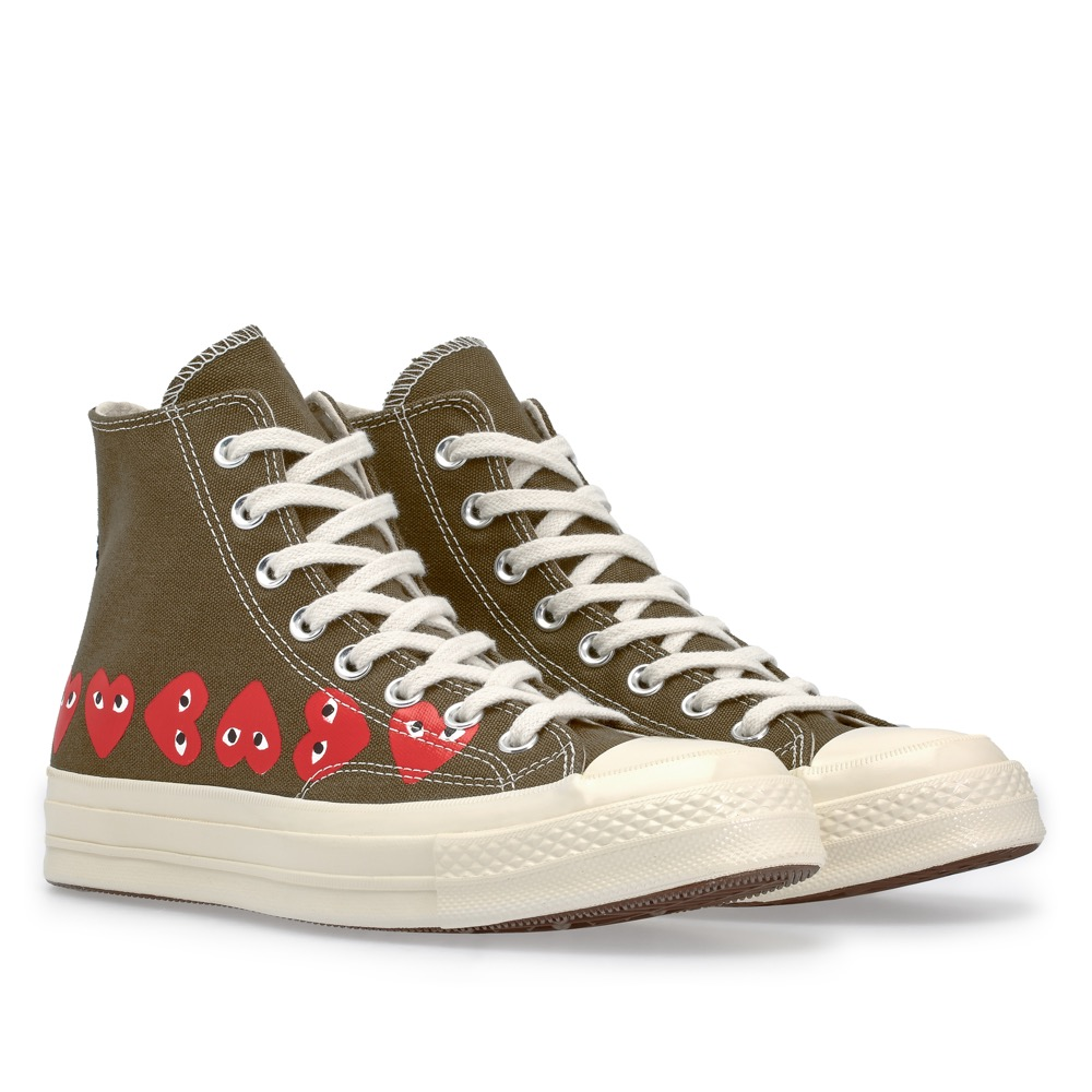 7ffec77dcc2e PLAY Comme des Garcons Converse Multi Heart Chuck Taylor All Star  70    Launch  Friday 19 October (in-store   E-SHOP)   Price  SGD220 (High Top)