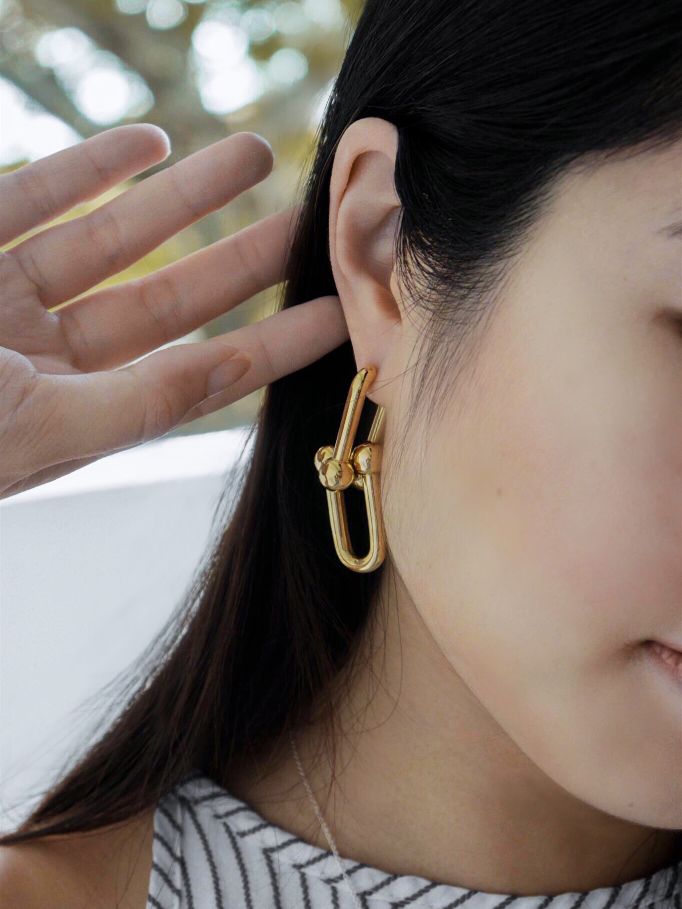 Tiffany HardWear Link Earrings in 18k Gold, $4,200