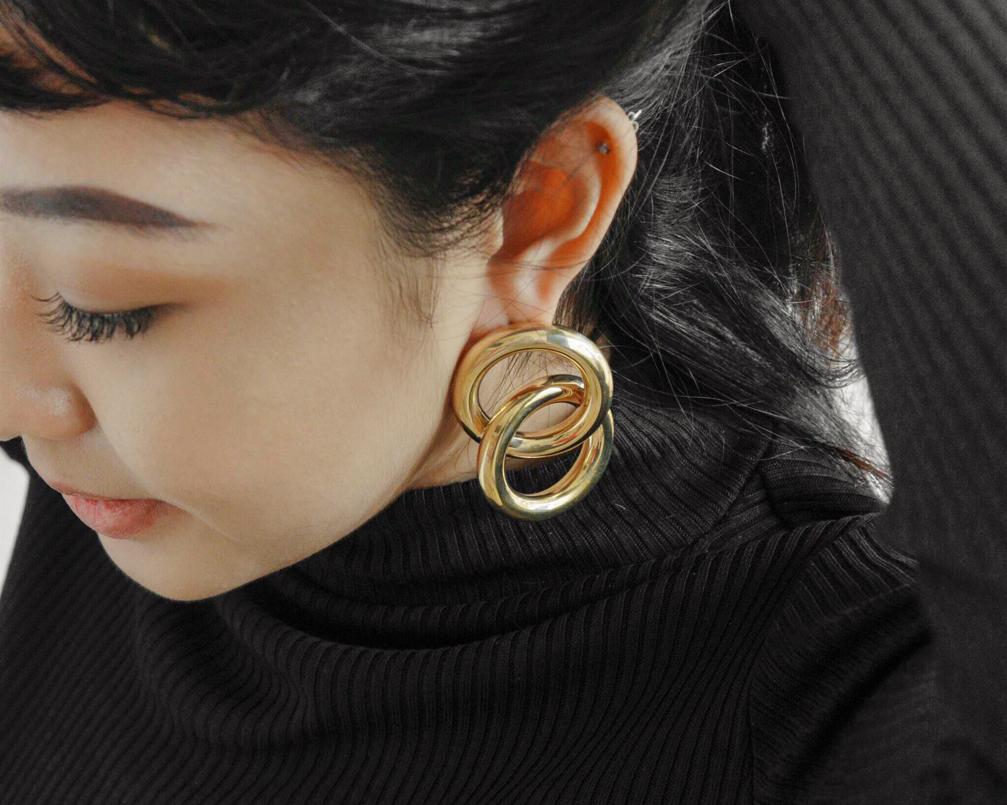 Laura Lombardi Interlock Gold-Tone Earrings, $169.42, from net-a-porter.com