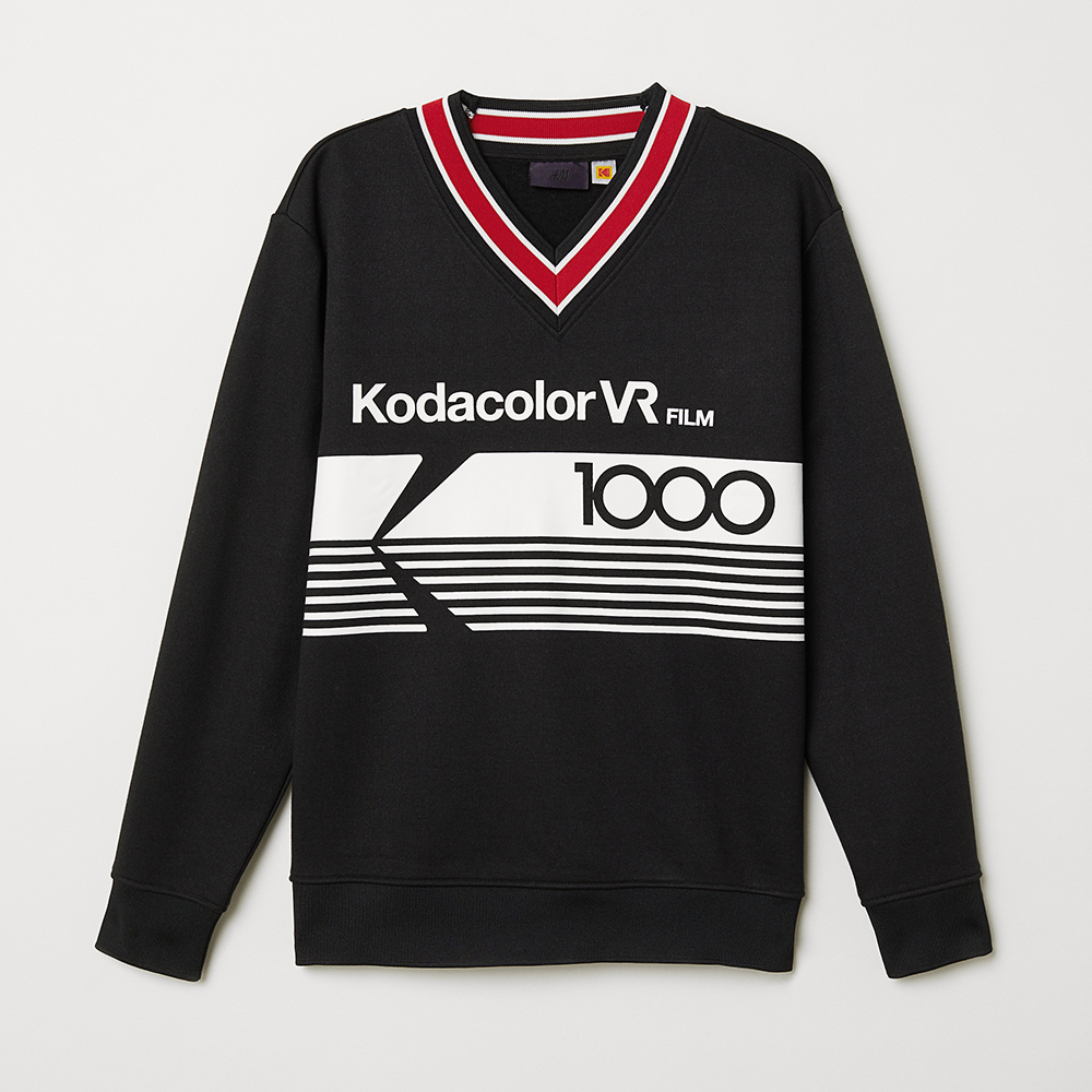 V-Neck Printed Sweatshirt, $54.95