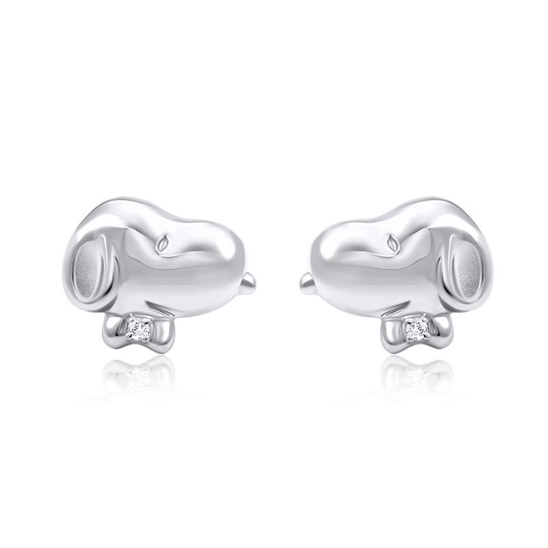 Snoopy Bow Tie Diamond Earrings (S$299)