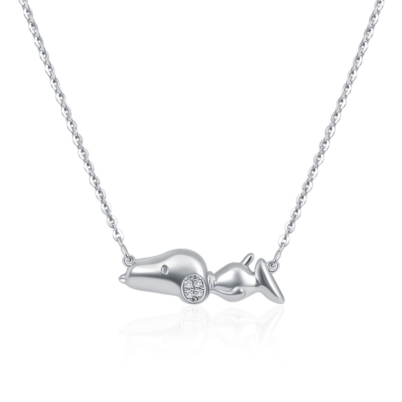 Relaxing Snoopy Diamond Necklace (S$399)
