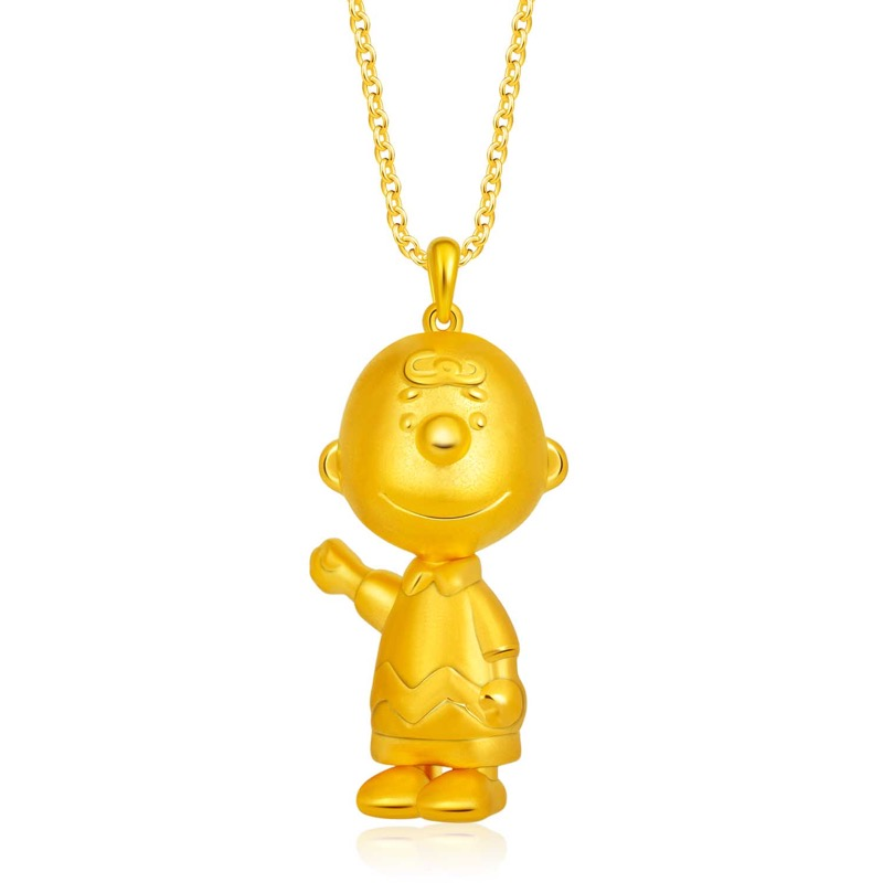 999 Pure Gold Friendly Charlie Brown Pendant (S$499)