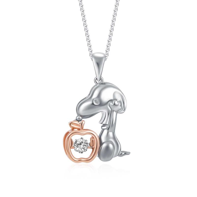 Snoopy Apple of My Eye Diamond Pendant (S$539)