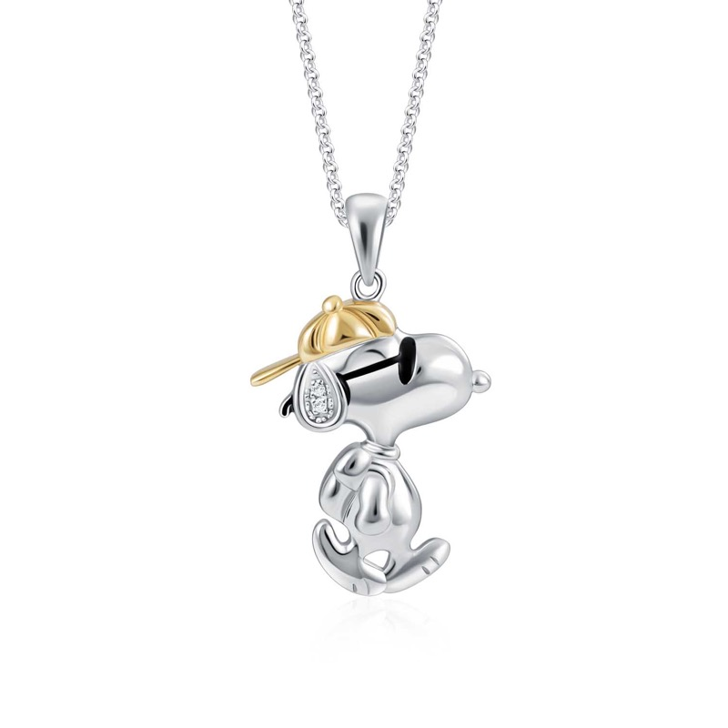Snoopy Happy Go Lucky Diamond Pendant (S$299)