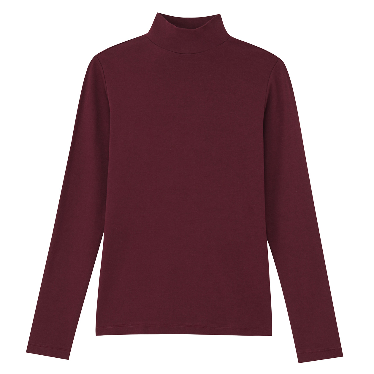 Stretch High Neck T-shirt Bordeaux, U.P. $15.90-$39 (Any 2 Less 10%)