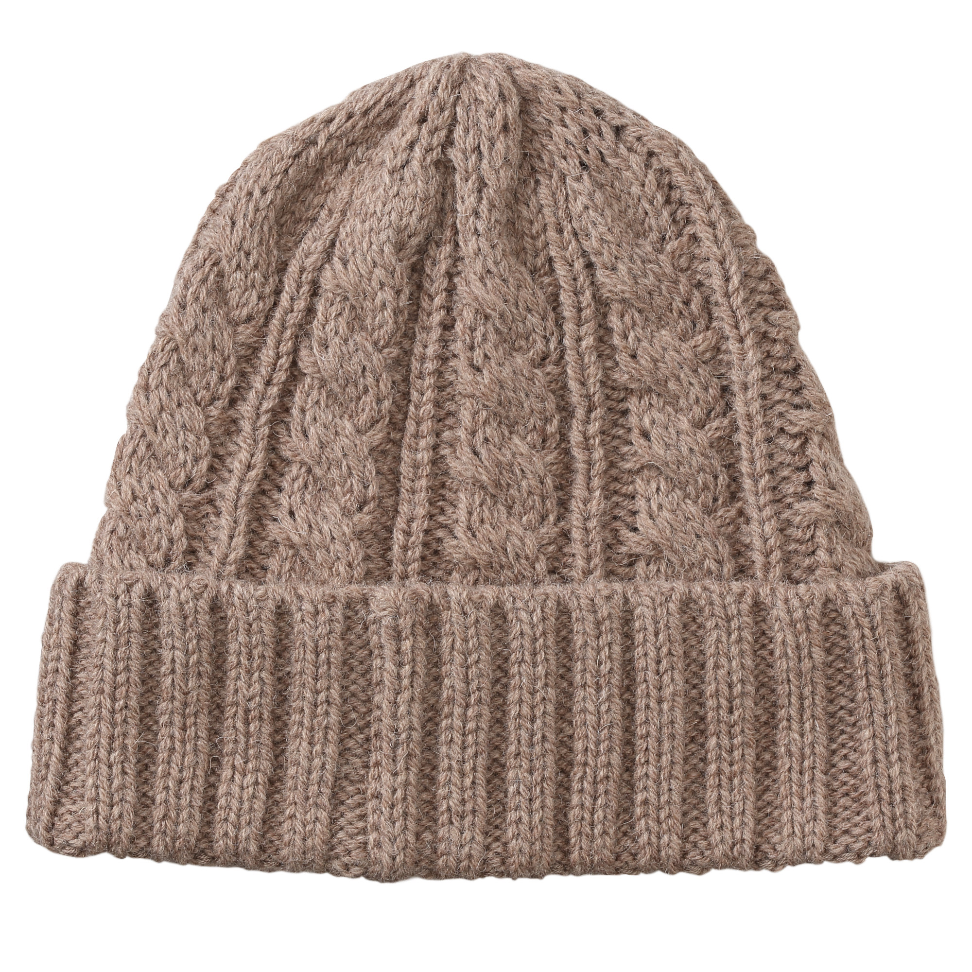 Wool Mixed Less Itchiness Washable Cable Pattern Watch Cap U.P. $29 (Less 10%)