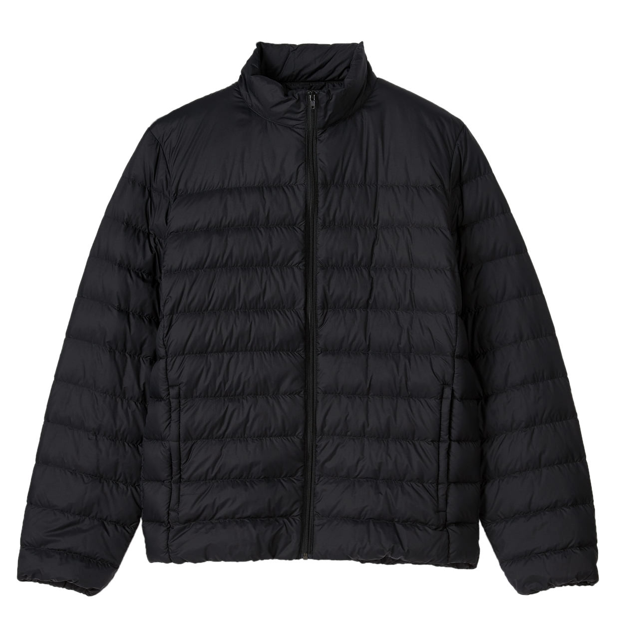 Lightweight Australian Down Pocketable Stand Collar Black U.P. $69-$99 (Less 10%)