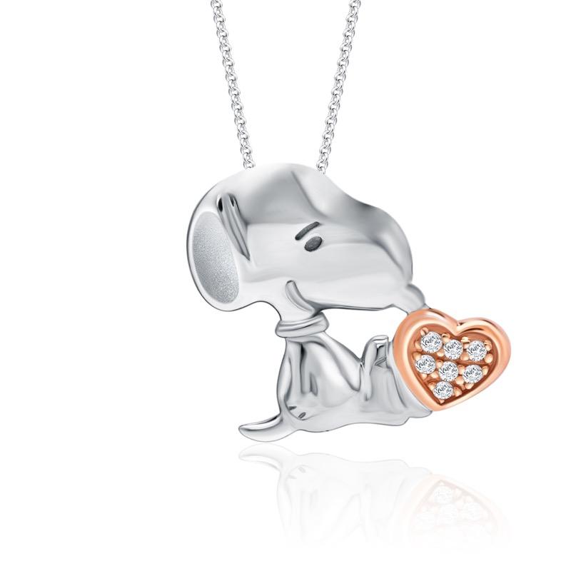 Snoopy Love Diamond Pendant (S$299)