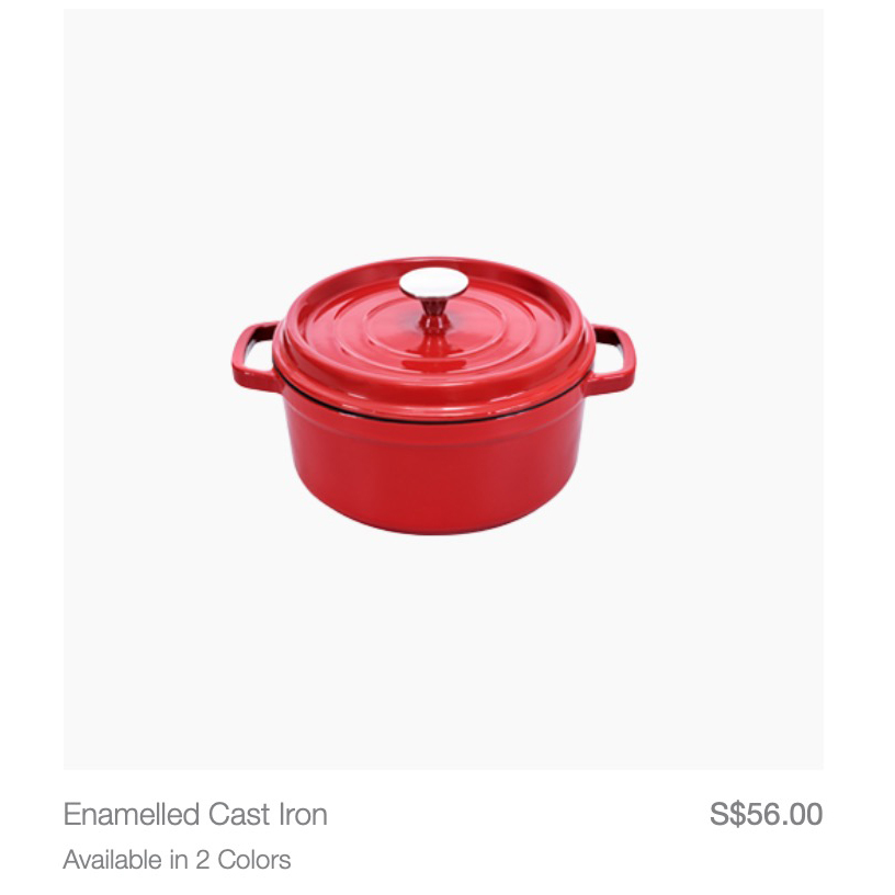 This is clearly a Le Creuset knock-off. Buy the original la. Robinsons is having Black Friday sale tomorrow!!!