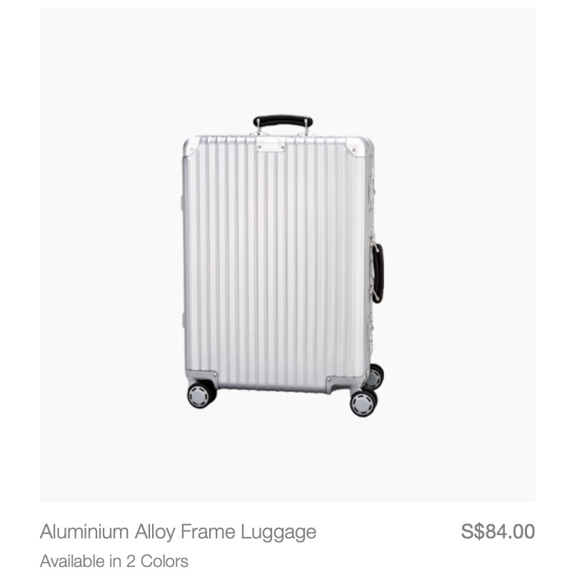 Looks suspiciously like the Rimowa Classic. Highly doubt this is from Rimowa's factory though.