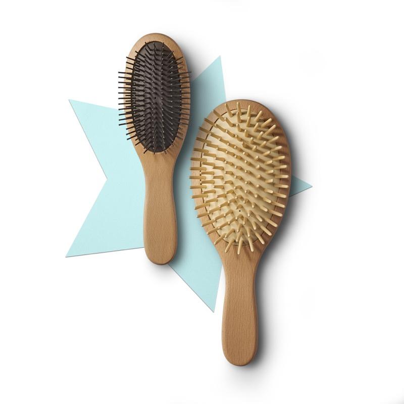 Wooden Handle Brush, $20.90 & Scalp Care Brush, $33