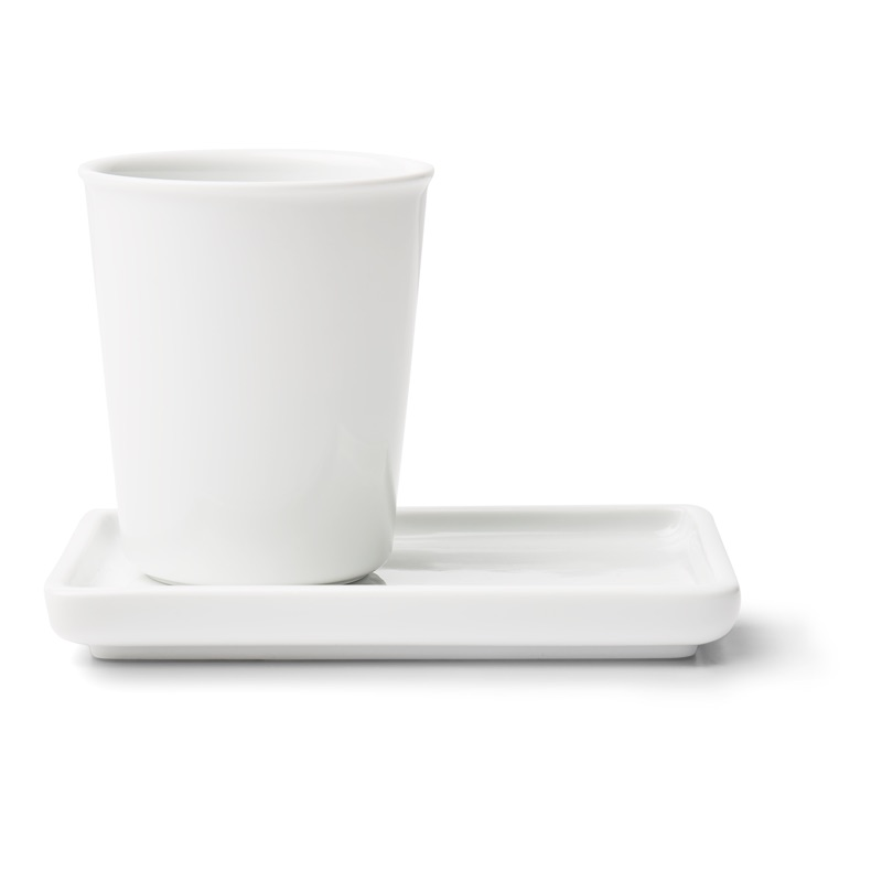 White Porcelain Tray 13cm, $6.90 & Cup 180ml, $5.90