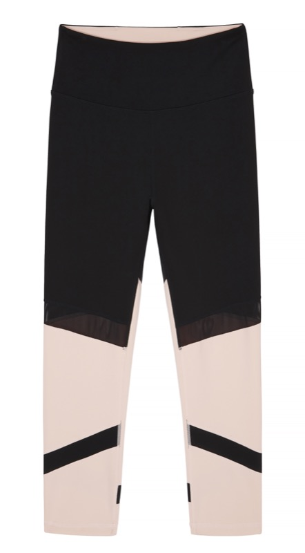 High Rise Cropped Legging - Blush