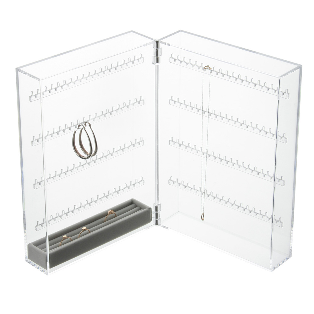 Acrylic Case (2 rows) with Inner Velour Set ($42)