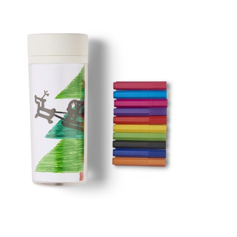 Acrylic Mug Cup & 10 Color Markers Set ($14.90)