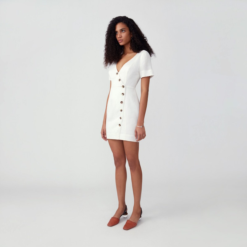 Fame And Partners Side Button Dress, $244