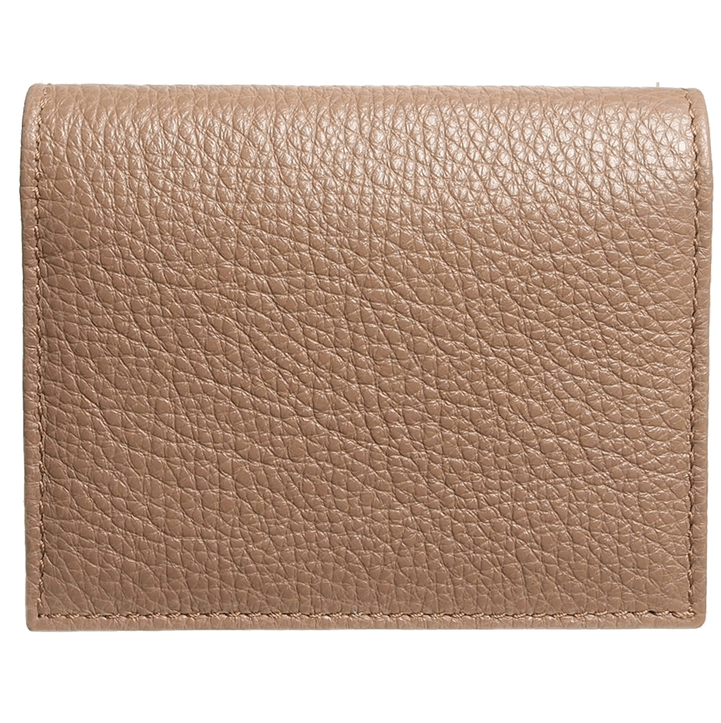 72smalldive Grained Calf Leather Card Wallet Taupe, $117