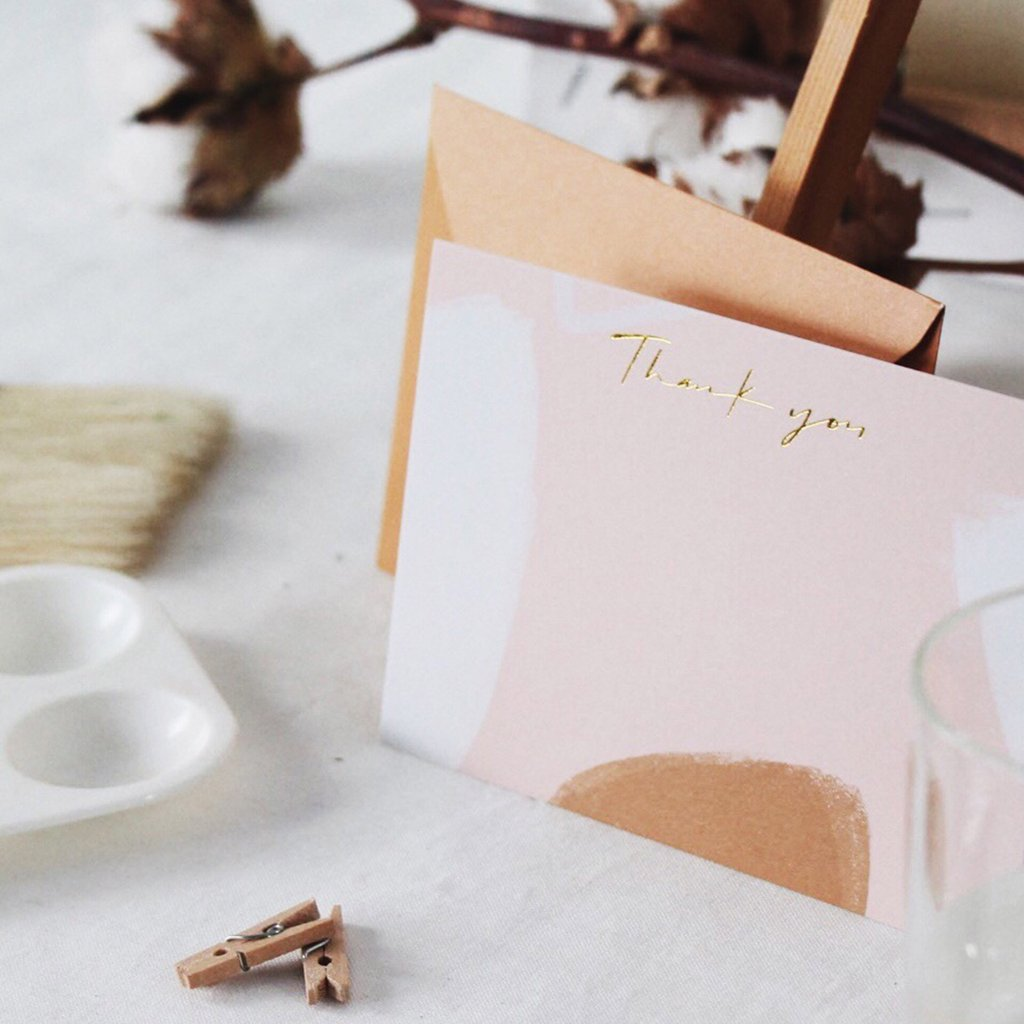 Actseed Co. Thank You Card in Camel, $4.90