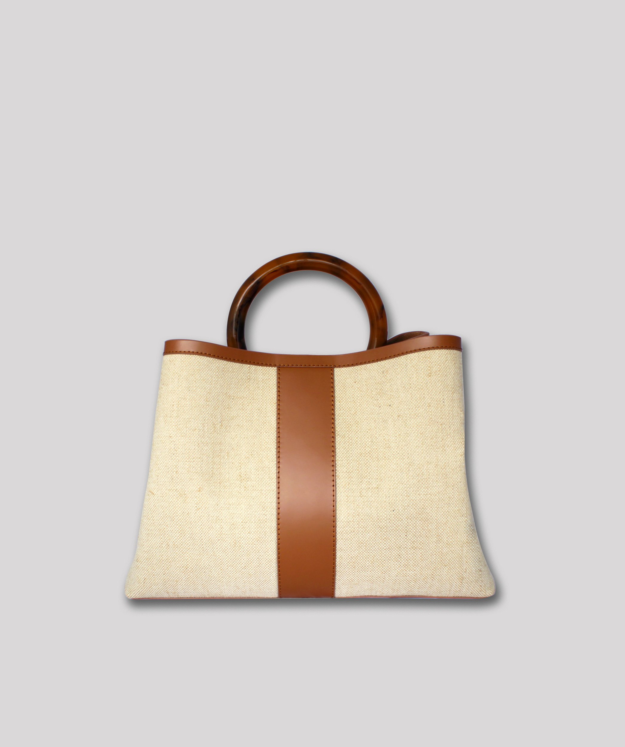 Ling Wu Miller Large Canvas and Tan Leather, $780