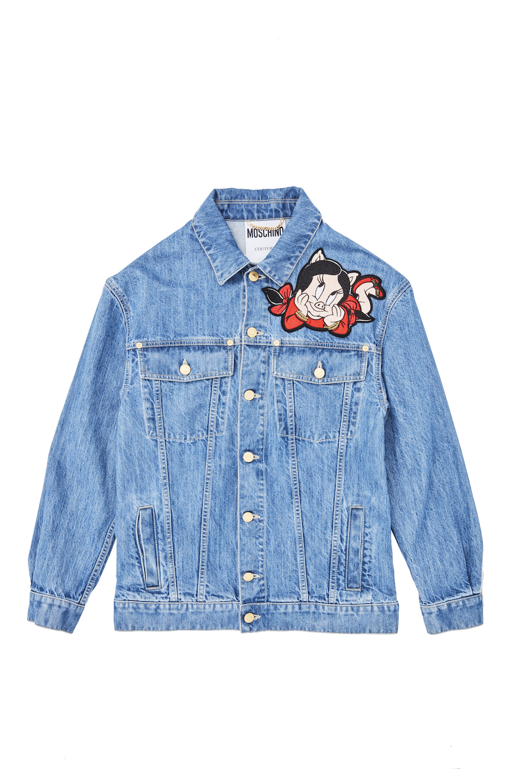 Moschino Chinese New Year Denim Cotton Jacket, $1,930 (Front)