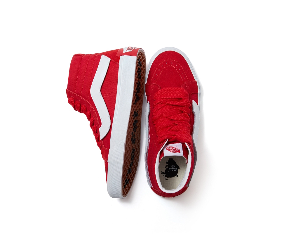 Year of Pig Sk8-Hi in festive red, $129