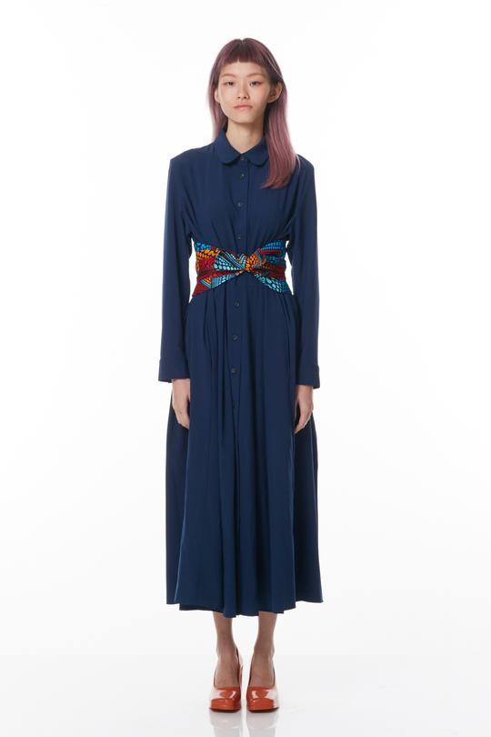 Reckless Ericka Maxi Dress with Hand-printed Obi Sash, $249