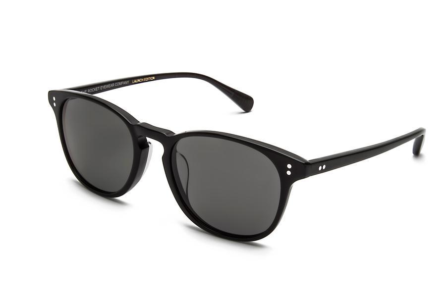 Rocket Eyewear Jet Black With Grey Polarized Lenses, $175