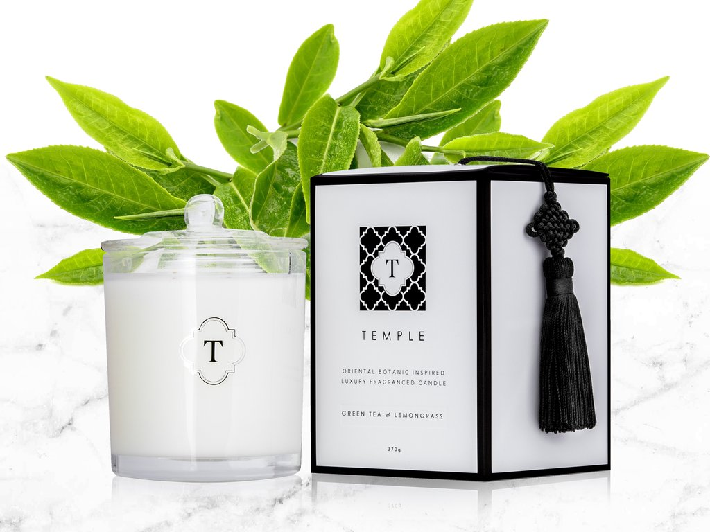 TEMPLE Candles Green Tea & Lemongrass Candle, $69