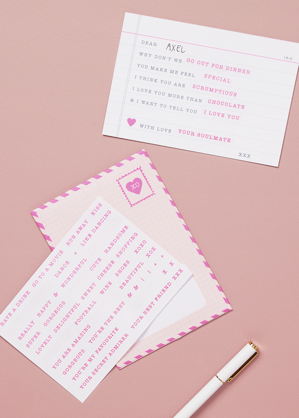 DIY Love Letter Card With Love ($12.90)
