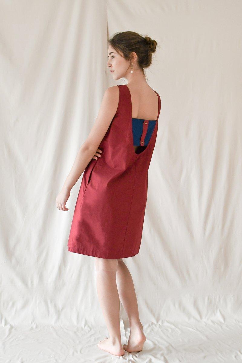 WEEKEND SUNDRIES Dip Shift Dress in Raspberry, $139