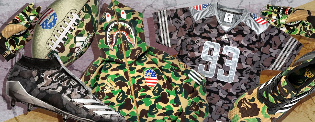 5baaa0283 This adidas x BAPE® Collection Is For Football Fanatics