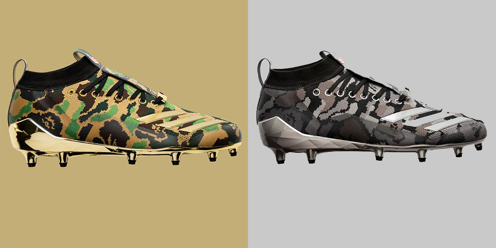 3de912130 L – R  adidas Football by BAPE® adizero 8.0 Cleats in Green and Black