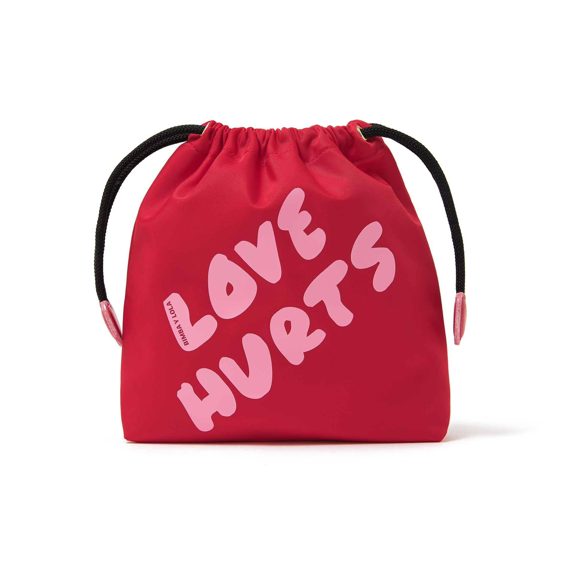 Red Love Pleat Make-Up Case, $66