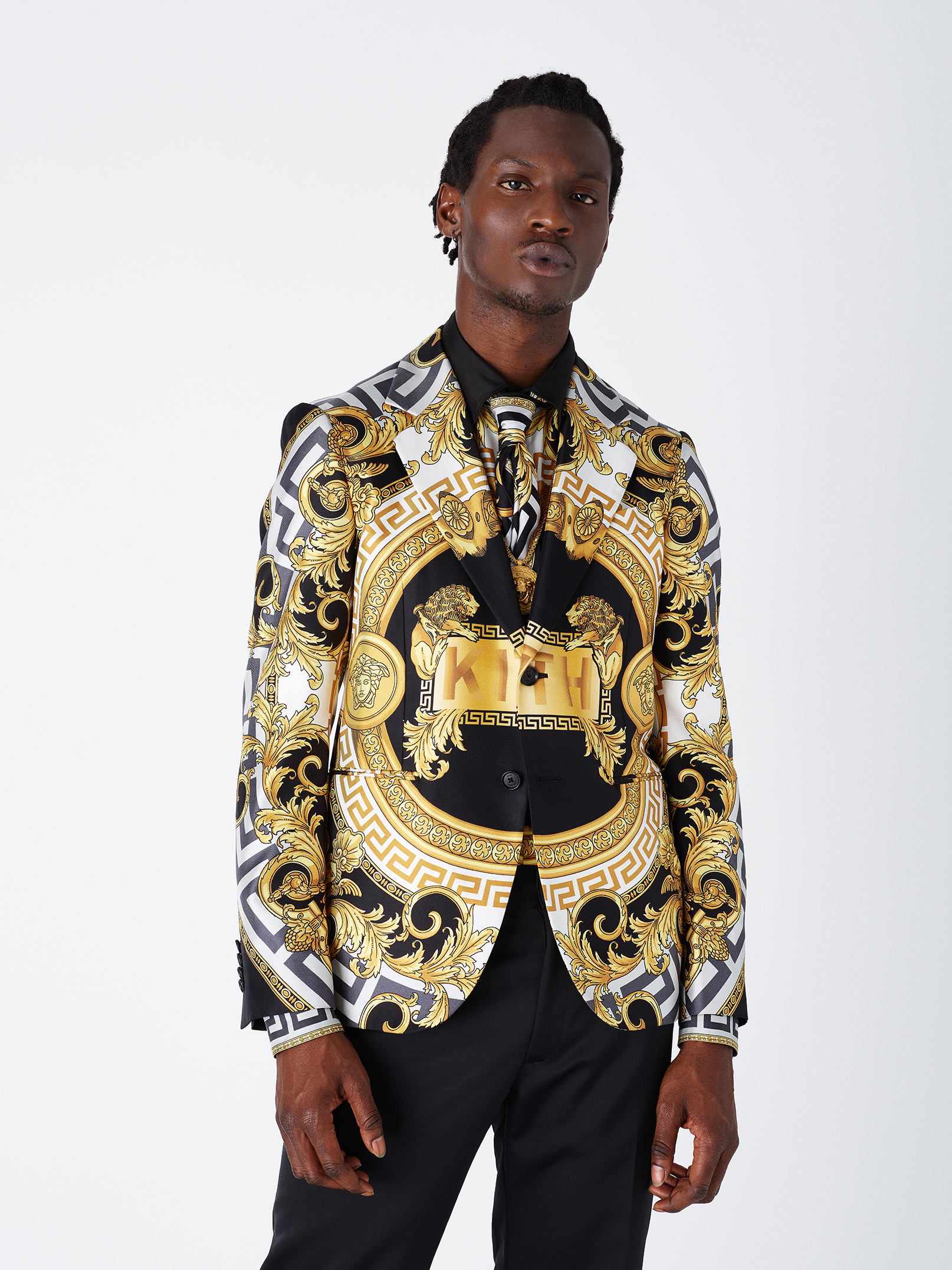 Kith X Versace Suit Jacket in Lion, $2,595