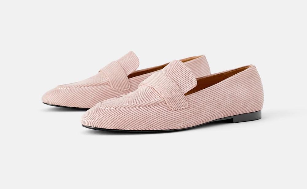 Zara Corduroy Loafers ($59.90)