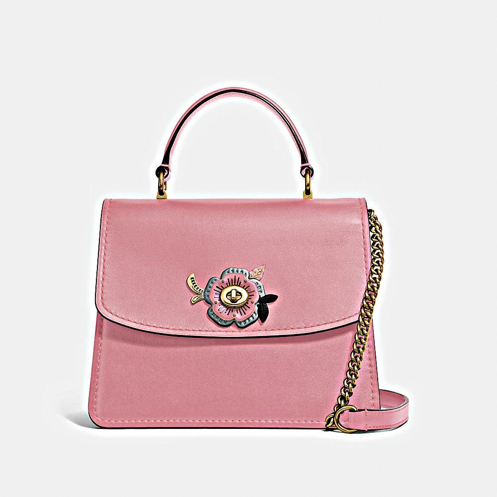 Coach Tea Rose Stones Parker Top Handle in Light Blush ($750)