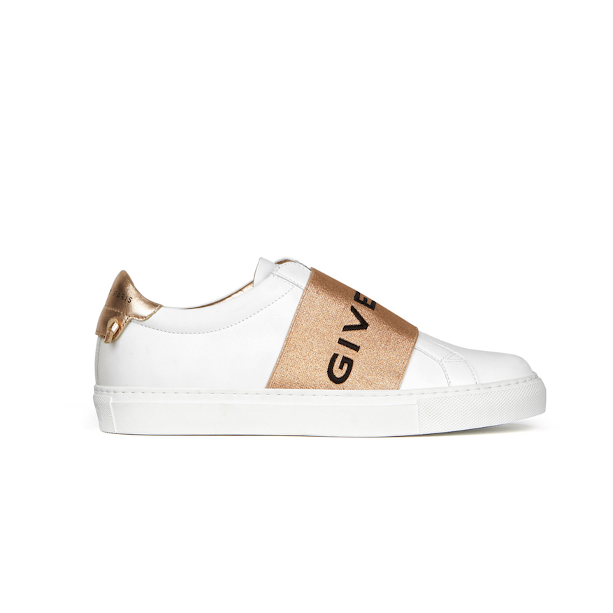 Givenchy Paris Strap Sneakers in Leather ($950)