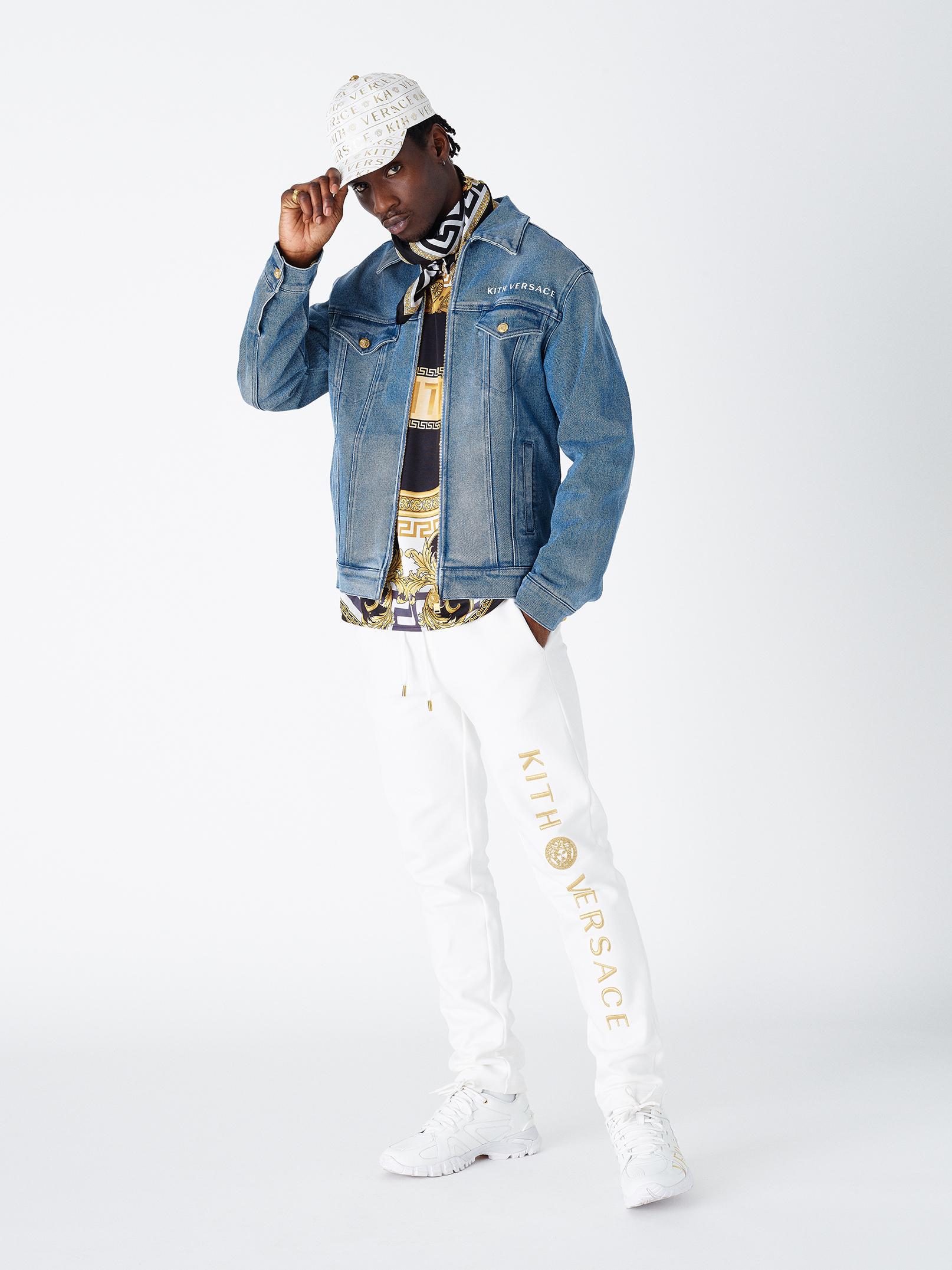 Kith X Versace Denim Jacket in Stonewash, $1,985